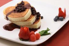 Honey moon healthy pancakes royalty free stock photos