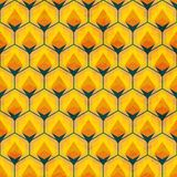 Honey mosaic seamless pattern Stock Photos