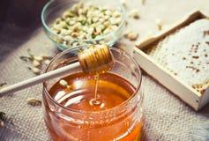 Honey in motion Royalty Free Stock Photo