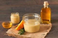 Honey mustard dressing Royalty Free Stock Photos