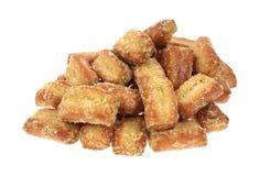 Honey Mustard Pretzel Pieces Stack Stock Image