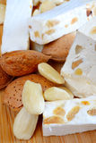 Honey nougat with almonds Royalty Free Stock Photography