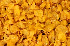 Honey And Nut Corn Flakes Breakfast Cereal Background stock photos