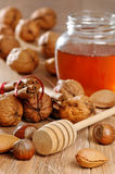 Honey & Nuts Stock Photo