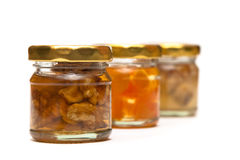 Honey with nuts Stock Photography