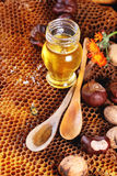 Honey and nuts Stock Photo