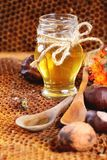 Honey and nuts Stock Photography