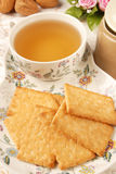 Honey-oats coconut biscuit Royalty Free Stock Photos