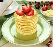 Honey Pancakes Royalty Free Stock Photos