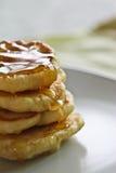 Honey pancakes Royalty Free Stock Images