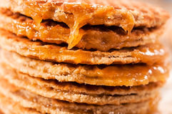 Honey pancakes Stock Photography