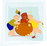 Honey party Royalty Free Stock Photography