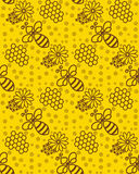 Honey pattern Wallpaper with a bee. Background for beekeeping or apiaries Stock Images