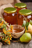 Honey and pears Stock Image