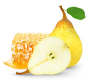 Honey and pears Royalty Free Stock Image