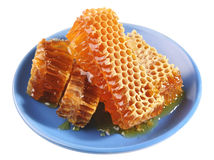 Honey on plate royalty free stock images
