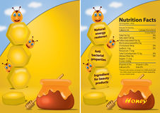Honey poster Stock Photography