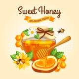 Honey Poster dolce Fotografia Stock Libera da Diritti