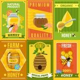 Honey Poster Set Stock Photos
