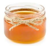 Honey pot on isolated white background Stock Image