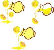Honey pot with lemon Royalty Free Stock Photography