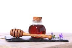 Honey pot. On white background Stock Photos