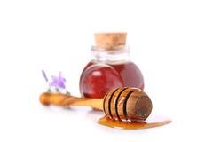 Honey pot. On white background Stock Image