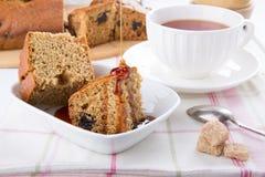 Prune honey cake stock photo