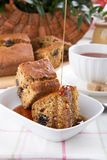 Prune honey cake stock photography