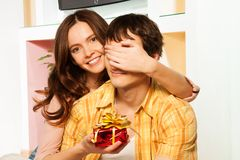 Honey this is present on st. Valentine day Stock Photography
