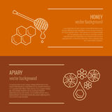 Honey product banner. Royalty Free Stock Image