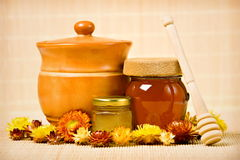 Honey products Stock Images