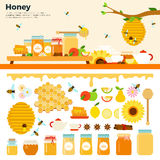 Honey products on the table Stock Image