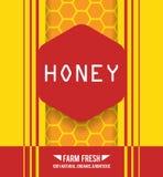 Honey promo design Stock Photos