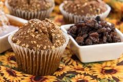 Honey raisin bran muffins Stock Photo