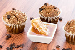 Honey raisin bran muffins Stock Photos
