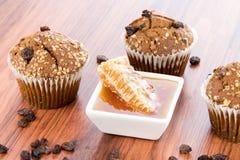 Honey raisin bran muffins Stock Photos
