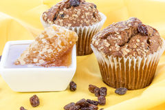 Honey raisin bran muffins Stock Photo