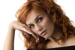 Honey redhead girl Stock Photo