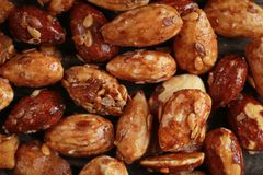 Honey roasted almonds Stock Photography