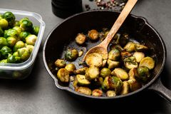 Roasted brussles sprouts Royalty Free Stock Photo