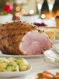 Honey Roasted Ham Boxing Day Buffet Stock Image