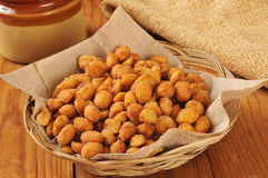 Honey roasted peanuts Royalty Free Stock Image