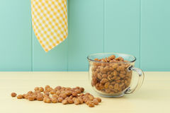 Honey roasted peanuts Stock Image
