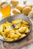 Honey roasted potatoes with skin Stock Images