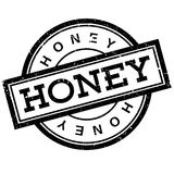 Honey rubber stamp Stock Images