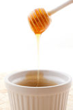Honey running in a bowl Royalty Free Stock Photography