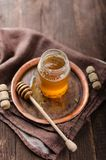 Honey rustic photography, food advertisment Royalty Free Stock Photography