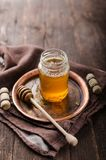 Honey rustic photography, food advertisment Royalty Free Stock Photos