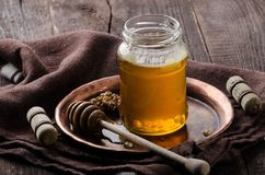 Honey rustic photography, food advertisment Stock Images